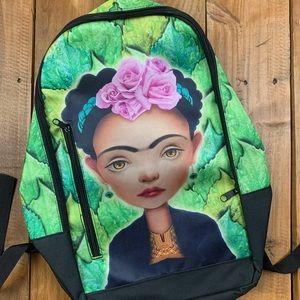 Frida Kahlo Backpack Hipster Fashionista Latina